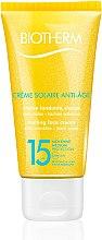 Düfte, Parfümerie und Kosmetik Anti-Aging-Sonnenschutz Gesichtscreme - Biotherm Sun Protection Creme Solaire Anti-age SPF 15
