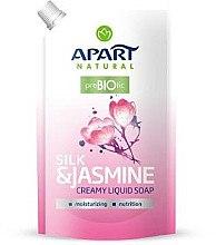 Düfte, Parfümerie und Kosmetik Flüssige Cremeseife mit Seide und Jasmin - Apart Natural Silk & Jasmine Soap (Doypack)