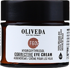 Düfte, Parfümerie und Kosmetik Korrigierende Augencreme mit Hydroxytyrosol - Oliveda F60 Augencreme Hydroxytyrosol Corrective Eye Cream