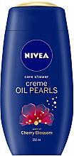 Düfte, Parfümerie und Kosmetik Duschcreme Kirschblüten mit Arganöl und Ölperlen - Nivea Care Shower Oil Pearls Cherry Blossom