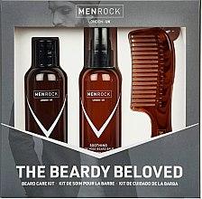 Düfte, Parfümerie und Kosmetik Bartpflegeset - Men Rock Soothy Beardy Beloved Oak Moss Starter Kit (Bartbalsam 100ml + Bartshampoo 100ml + Bartkamm 1St.)