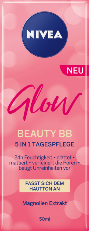 5in1 Multifunktionale BB Tagespflege mit Magnolien-Extrakt - Nivea Glow Beauty BB 5-in-1 — Bild N2