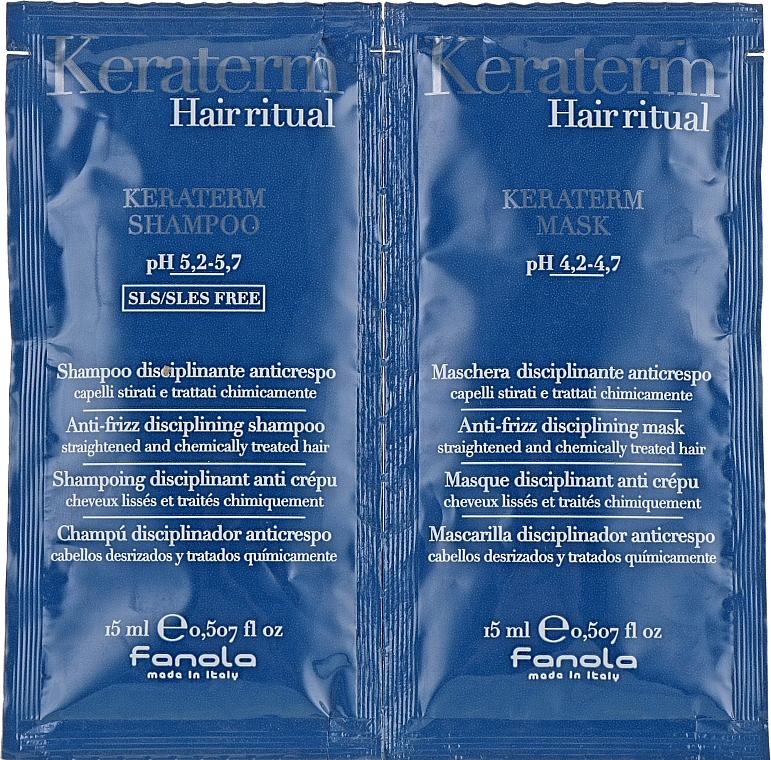 Set für strapaziertes Haar - Fanola Keraterm (Shampoo 15ml + Haarmaske 15ml)