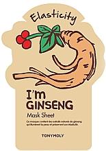 Düfte, Parfümerie und Kosmetik Tuchmaske für das Gesicht mit Ginseng - Tony Moly I'm Real Gingseng Sheet Mask