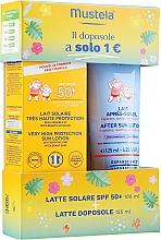 Düfte, Parfümerie und Kosmetik Sonnenschutzset für Babys - Mustela Bebe Latte Solare (Sonnenschutzlotion SPF 50+ 100ml + After Sun Lotion 125ml)