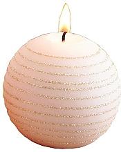 Düfte, Parfümerie und Kosmetik Dekorative Kerze in Kugelform rosa-gold 10 cm - Artman Andalo