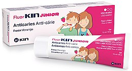Düfte, Parfümerie und Kosmetik Anti-Karies Kinderzahngel - Kin Fluorkin Junior Strawberry Anticaries Gel