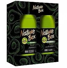 Düfte, Parfümerie und Kosmetik Haarpflegeset - Nature Box Avocado Oil (Shampoo 385ml + Conditioner 385ml)