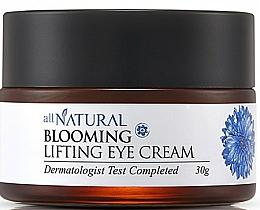 Düfte, Parfümerie und Kosmetik Beruhigende, entzündungshemmende und straffende Creme für trockene und empfindliche Augenkontur mit Kornblumenwasser - All Natural Blooming Lifting Eye Cream