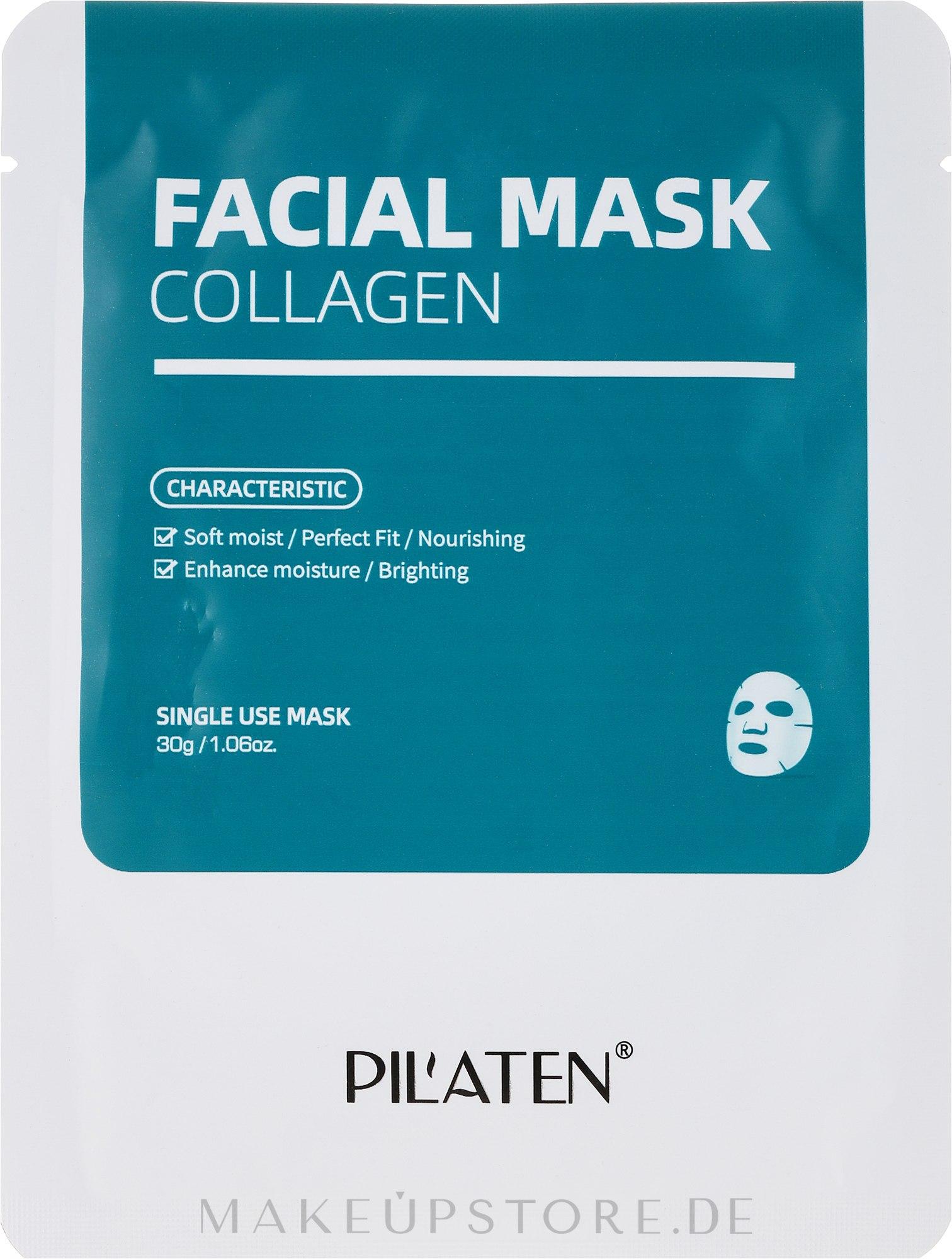 Milde feuchtigkeitsspendende und nährende Gesichtsmaske mit Kollagen - Pilaten Collagen Facial Mask — Bild 30 g