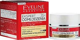 Düfte, Parfümerie und Kosmetik Intensiv glättendes und verjüngendes Anti-Falten Gesichtscreme-Serum 35+ - Eveline Cosmetics Ekspert Expert Rejuvenation Cream Serum