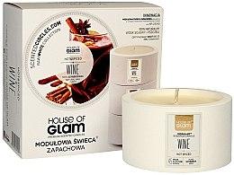 Düfte, Parfümerie und Kosmetik Soja-Duftkerze Hot Spiced Wine - House of Glam Raw White Collection Hot Spiced Wine Candle