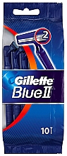Düfte, Parfümerie und Kosmetik Einwegrasierer-Set 10 St. - Gillette Blue II Disposable Men's 2-Blade Travel Razors with Razor Blades