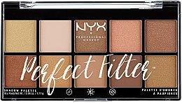 Düfte, Parfümerie und Kosmetik Lidschattenpalette - NYX Professional Makeup Perfect Filter Shadow Palette