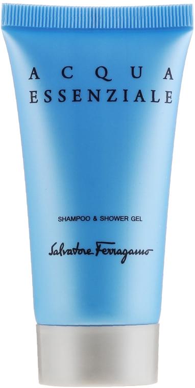 Salvatore Ferragamo Acqua Essenziale - Duftset (Eau de Toilette 30ml + Shampoo & Duschgel 50ml) — Bild N5