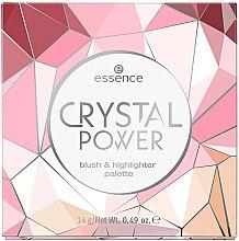 Düfte, Parfümerie und Kosmetik Rouge- und Highlighter-Palette - Essence Crystal Power Blush & Highlighter Palette