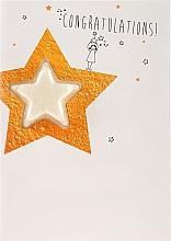 Düfte, Parfümerie und Kosmetik 2in1 Grußkarte & Badebombe Vanilla Honey - Bomb Cosmetics Congratulations Star Blaster Card