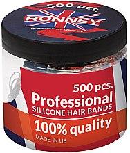 Düfte, Parfümerie und Kosmetik Silikon-Haargummis schwarz - Ronney Professional Silicone Hair Bands