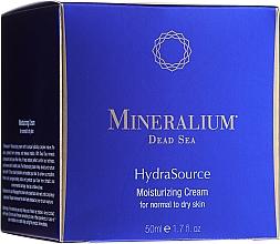 Düfte, Parfümerie und Kosmetik Feuchtigkeitsspendende Gesichtscreme für normale bis trockene Haut - Mineralium Dead Sea HydraSource Moisturizing Cream For Normal To Dry Skin