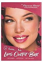 Düfte, Parfümerie und Kosmetik Makeup Set - Pierre Rene Lips Outfit Box No. 02 @Basia_Be (Lippenstift 3g + Lippenkonturenstift 0.4g + Lipgloss 6ml)