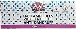 Düfte, Parfümerie und Kosmetik Anti-Shuppen Haarampullen mit Teebaumöl - Ronney Hair Ampoules With Tea Tree Anti-Dandruff