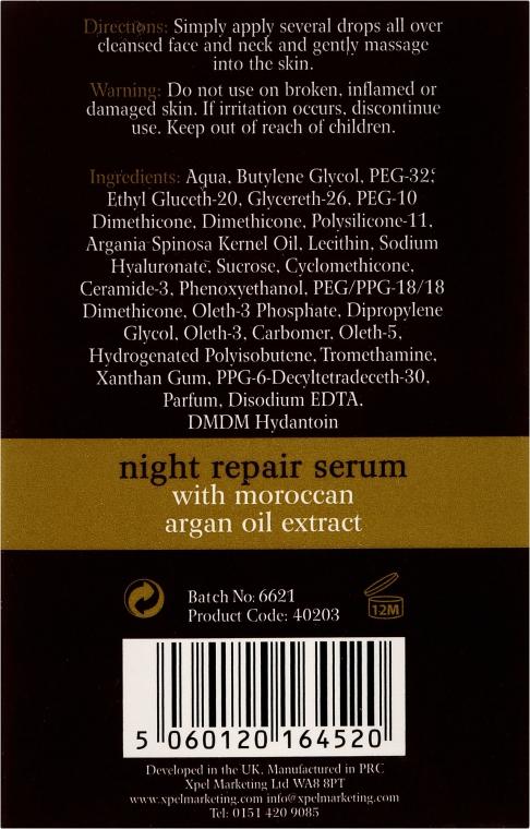 Regenerierendes Anti-Falten-Nachtserum - Xpel Argan Oil Night Repair Serum — Bild N3