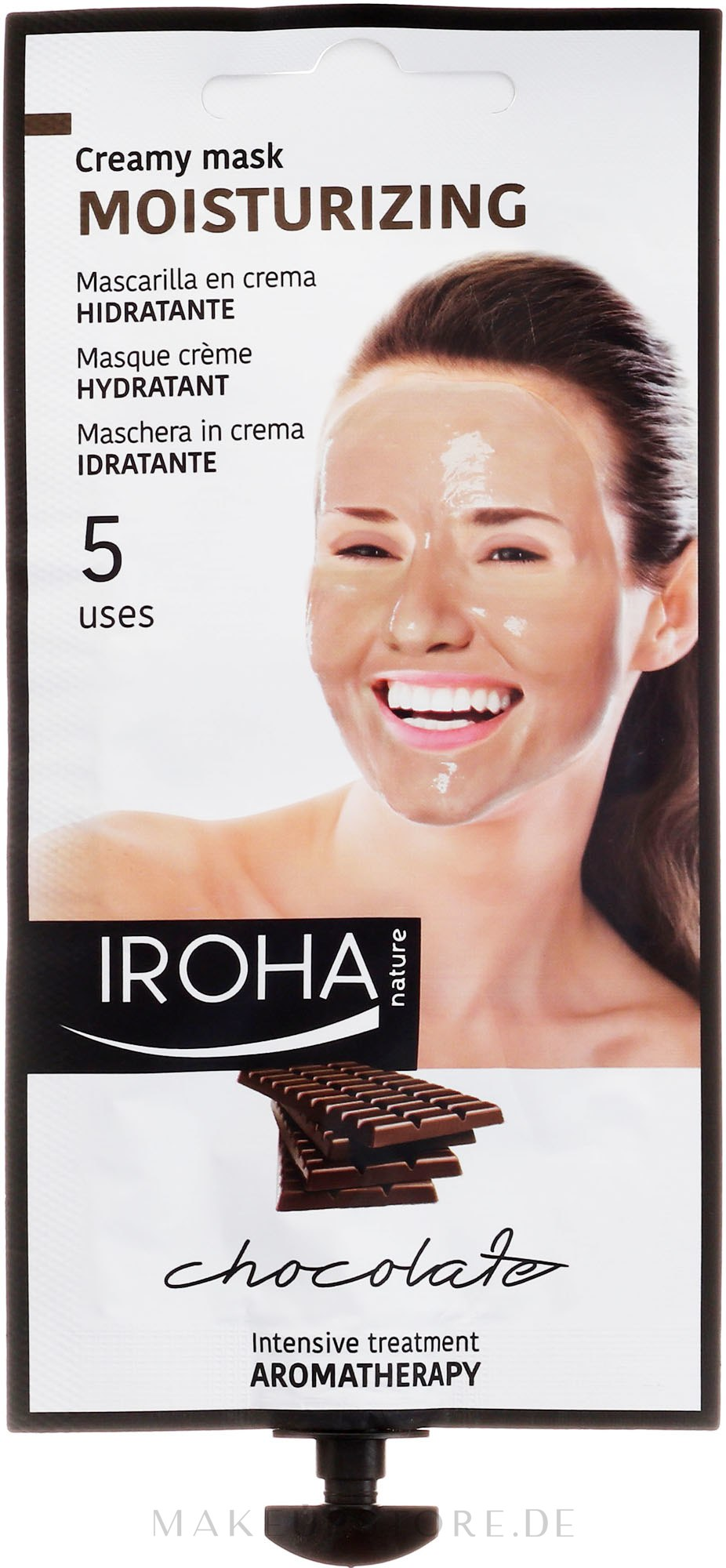 Gesichtsmaske - Iroha Nature Moisturizing Chocolate Creamy Mask — Bild 25 g