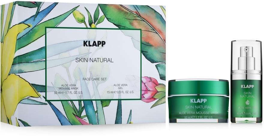 Gesichtspflegeset - Klapp Skin Natural Face Care Set (Gesichtsmaske 50ml + Gesichtsgel 15ml) — Bild N1