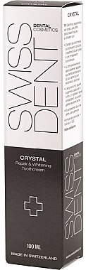 Aufhellende, aufbauende und remineralisierende Zahnpasta Crystal - SWISSDENT Crystal Repair and Whitening Toothcream For Night Care — Bild N2