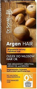Regenerierendes und schützendes Haaröl mit Argan & Keratin - Dr. Sante Argan Hair — Bild N1