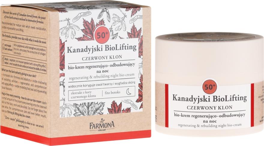 Regenerierende Gesichtscreme 50+ - Farmona Canadian BioLifting Red Maple — Bild N1