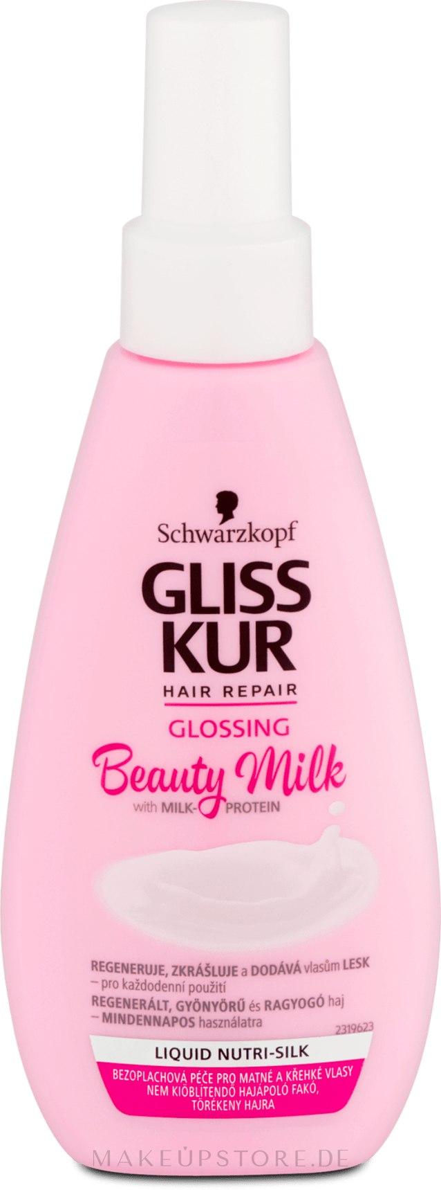 Gliss Kur mit Milch-Protein für strapaziertes und geschädigtes Haar - Gliss Kur Repairing Beauty Milk — Bild 150 ml