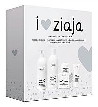 Düfte, Parfümerie und Kosmetik Körperpflegeset - Ziaja Goat's Milk (Duschgel/500ml + Körpermilch/400ml + Gesichtscreme/50ml + Handcreme/50ml)