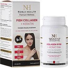 Düfte, Parfümerie und Kosmetik Nahrungsergänzungsmittel Fischkollagen mit Keratin für schöne und gesunde Haut, Haare und Nägel - Noble Health Kolagen + Ceratin