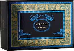 Versace Pour Homme Dylan Blue - Duftset (Eau de Toilette/100ml + Eau de Toilette/10ml + Kosmetiktasche) — Bild N1