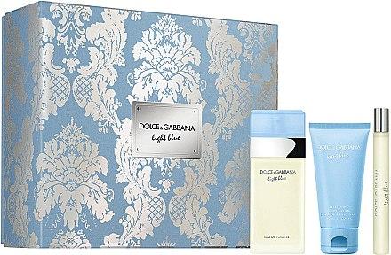 Dolce&Gabbana Light Blue - Duftset (Eau de Toilette 50ml + Körpercreme 50ml + Eau de Toilette 10ml) — Bild N1