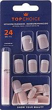 Düfte, Parfümerie und Kosmetik Künstliche Fingernägel inkl. Kleber French 74080 - Top Choice