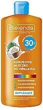 Düfte, Parfümerie und Kosmetik Kokosmilch zum Sonnenschutz SPF 30 - Bielenda Bikini Moisturizing Suntan Milk