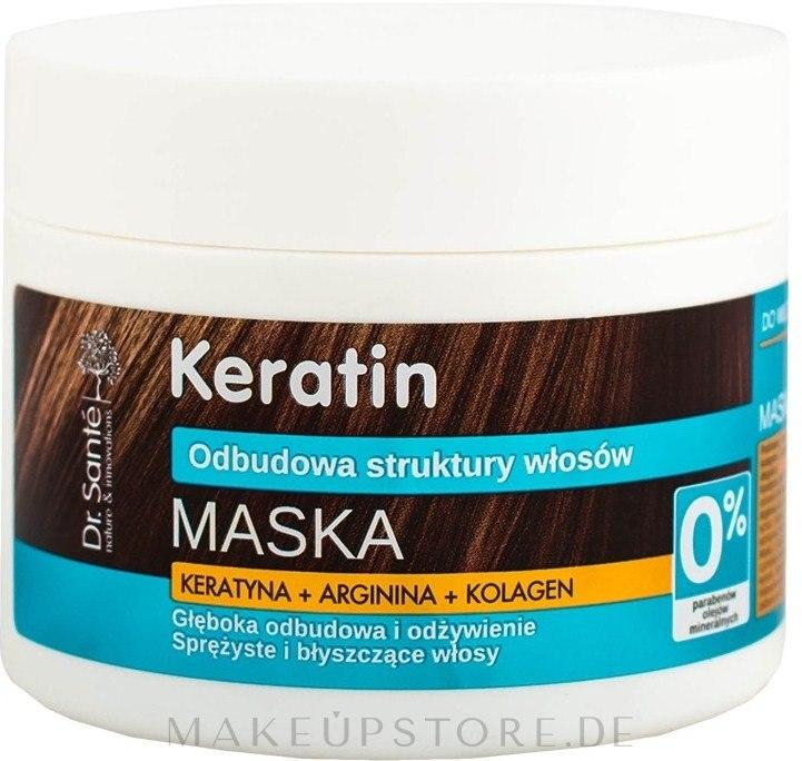Maske für stumpfes und brüchiges Haar - Dr. Sante Keratin Mask — Bild 300 ml