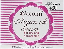 Intensiv pflegende und reparierende Nachtcreme für normale und trockene Haut mit Arganöl - Nacomi Moroccan Argan Night Cream — Bild N1