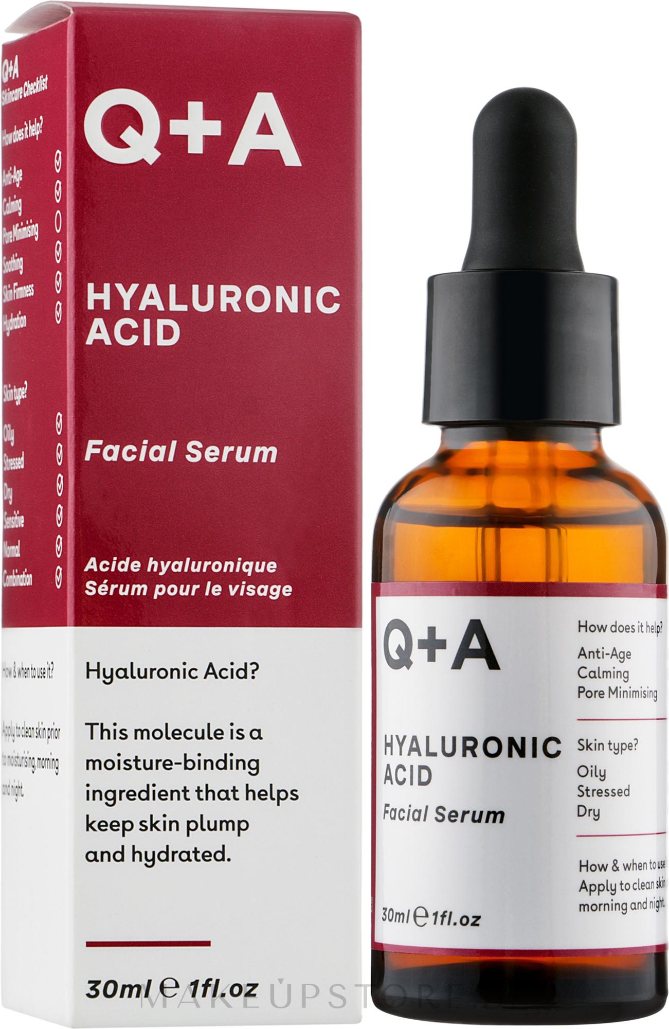 Gesichtsserum mit Hyaluronsäure - Q+A Hyaluronic Acid Facial Serum — Bild 30 ml
