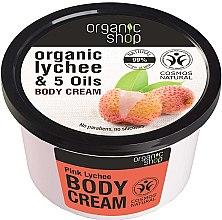 Düfte, Parfümerie und Kosmetik Körpercreme mit Bio Litschi-Extrakt und 5 Ölen - Organic Shop Body Cream Organic Lichee & 5 Oils