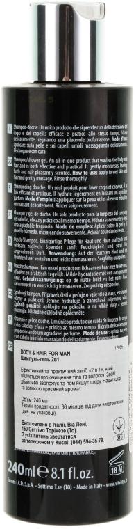 Shampoo-Gel für Körper und Haar - Vitality's For Man Hair & Body Shampoo — Bild N2