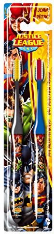 Kinderzahnbürste weich Batman and Superman blau, grau 2 St. - VitalCare Batman and Superman DUO Toothbrush — Bild N1