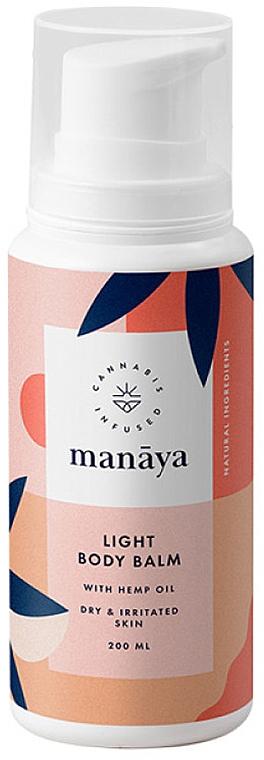 Leichter Körperbalsam mit Hanföl für trockene und irritierte Haut - Manaya Light Body Balm With Hemp Oil — Bild N1