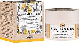 Düfte, Parfümerie und Kosmetik Verjühgende und modellierende Nachtcreme mit Gelb-Birke 40+ - Farmona Canadian BioLifting Yellow Birch
