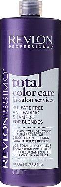 Sulfatfreies Shampoo gegen Farbverlust für blonde und weiße Haare - Revlon Professional Revlonissimo Total Color Care Antifading Shampoo For Blondes — Bild N1