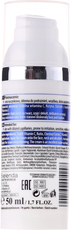 Gesichtscreme mit Vitamin C für Rosazea-Haut - Bielenda Professional Capilary Repair Face Cream — Bild N4