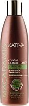 Düfte, Parfümerie und Kosmetik Feuchtigkeitsspendender Conditioner für normales, stapaziertes und sensibles Haar - Kativa Macadamia Hydrating Conditioner