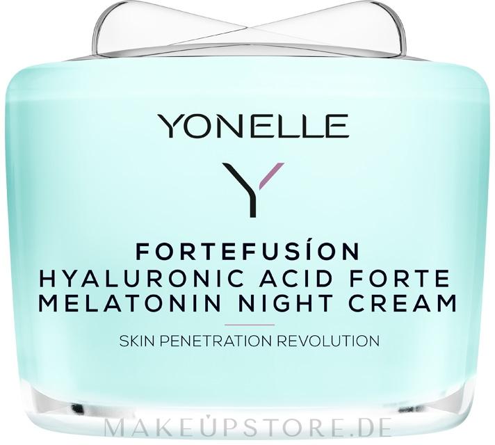 Nachtcreme mit Melatonin und Hyaluronsäure - Yonelle Fortefusion Hyaluronic Acid Forte Melatonin Night Cream — Bild 55 ml